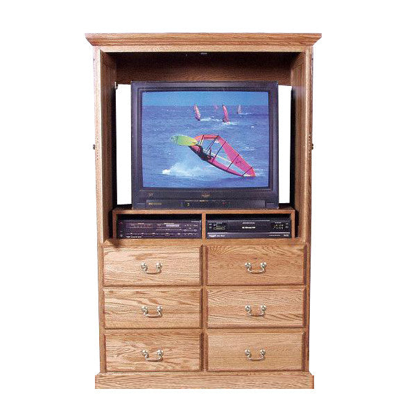 Elegant ... FD 3068T   Traditional Oak 6 Drawer TV Armoire With Doors   Oak For Less