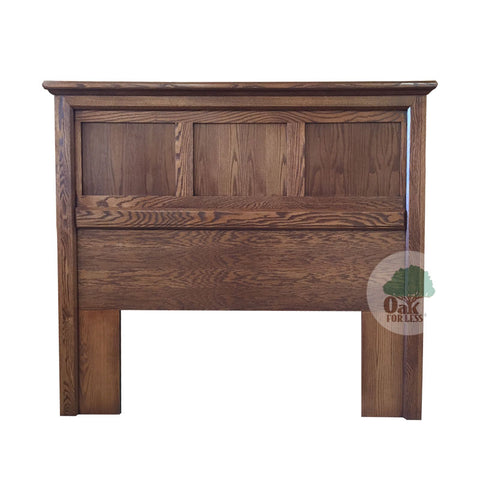FD-3207H-M - Mission Oak Raised Panel Headboard - Queen size - Oak For Less® Furniture
