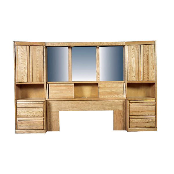 Fd 3302 Contemporary Oak Bedroom Pier Wall Cal E King Size