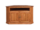 "FD-4040T-WOOD - Traditional Oak 52"" Corner TV Stand with Wood Doors - Oak For Less® Furniture"