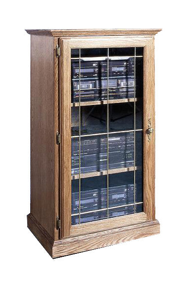 FD-4052T - Traditional Oak Stereo Audio Component Cabinet - Oak For Less® Furniture