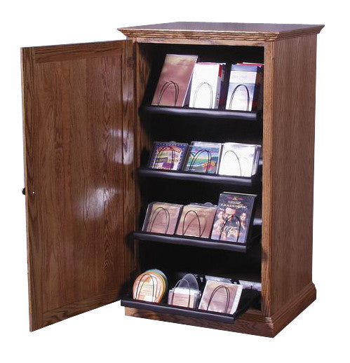 FD-4054T - Traditional Oak CD and Media Storage Cabinet - Oak For Less® Furniture
