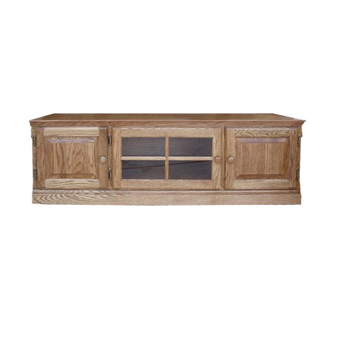 "FD-4114TC - Traditional Oak 60"" TV Stand - Country style - Oak For Less® Furniture"