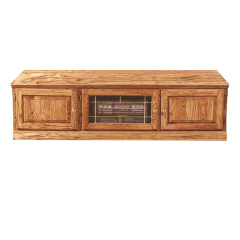 "FD-4115T - Traditional Oak 67"" TV Stand - Oak For Less® Furniture"