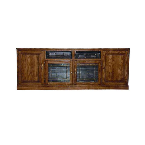 "FD-4128T - Traditional Oak 80"" TV Stand - Oak For Less® Furniture"