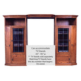 FD-4170M - Mission Oak 3 Piece Entertainment Wall Unit - Oak For Less® Furniture