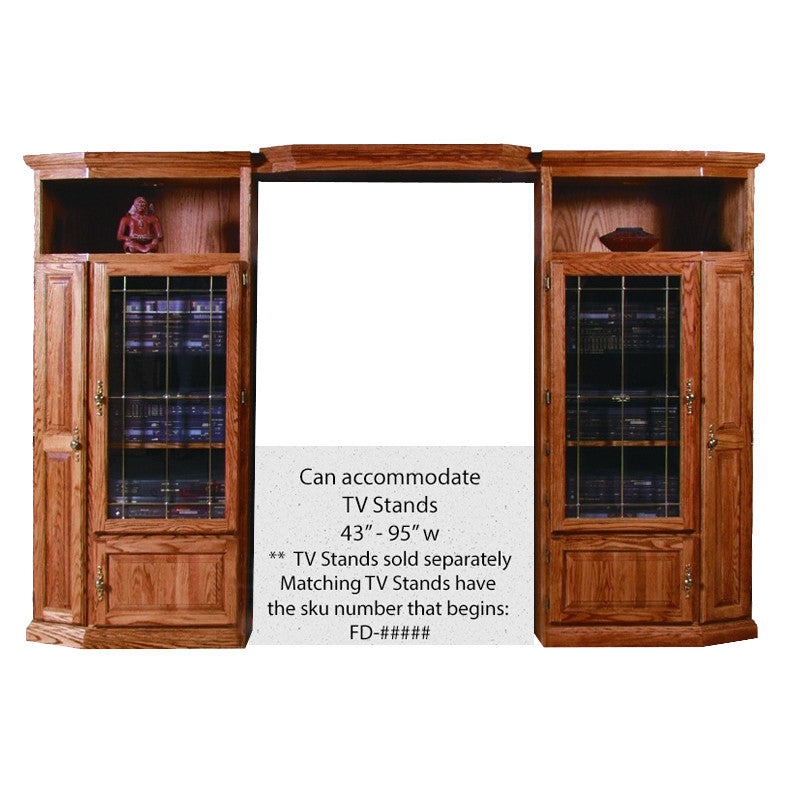 FD-4170T - Traditional Oak 3 Piece Entertainment Wall Unit - Oak For Less® Furniture