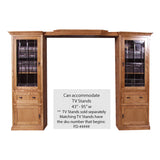 FD-4174M - Mission Oak 3 Piece Entertainment Wall Unit - Oak For Less® Furniture