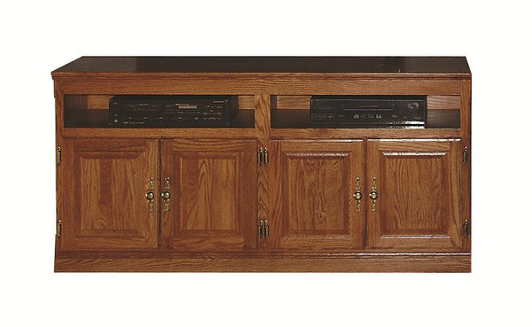 "FD-4516T - Traditional Oak 66"" TV Stand - Oak For Less® Furniture"