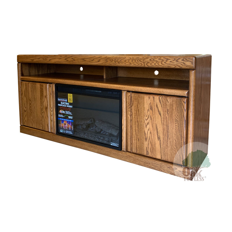 "FD Contemporary Oak 66"" Fireplace TV Stand - Oak For Less® Furniture"