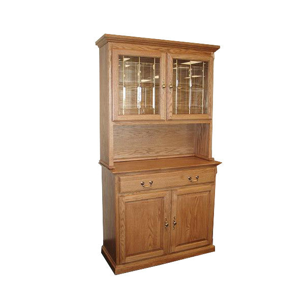 "FD-5042T and FD-5142T - Traditional Oak 42"" Buffet and Hutch - Oak For Less® Furniture"