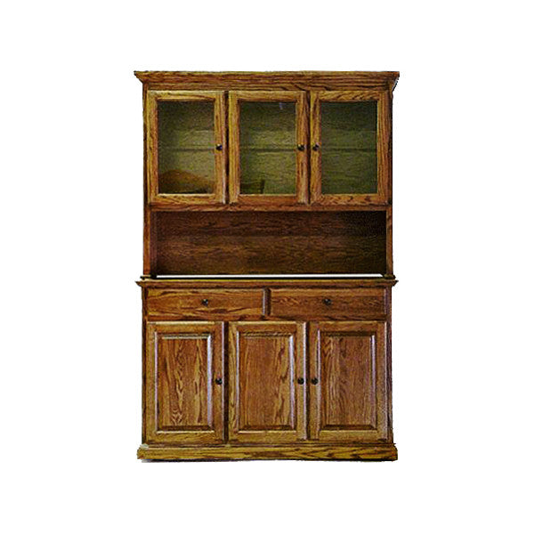 "FD-5054T and FD-5154T - Traditional Oak 54"" Buffet and Hutch - Oak For Less® Furniture"