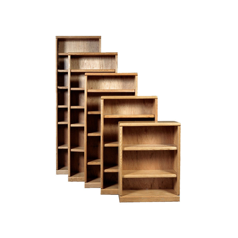 "FD-6102 - Contemporary Oak Bookcase 24"" w x 12"" d x 48"" h - Oak For Less® Furniture"