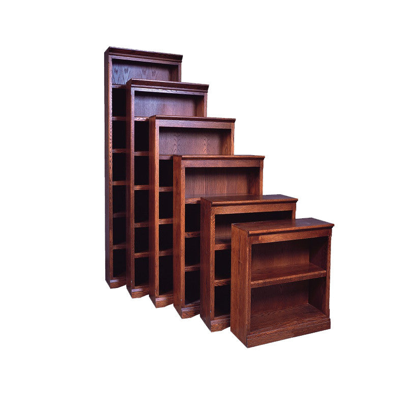"FD-6102M - Mission Oak Bookcase 24"" w x 13"" d x 48"" h - Oak For Less® Furniture"