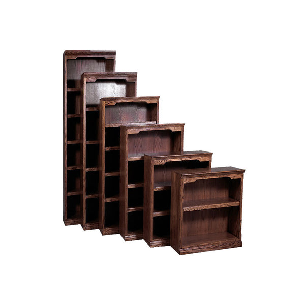 "FD-6104T - Traditional Oak Bookcase 24"" w x 13"" d x 72"" h - Oak For Less® Furniture"