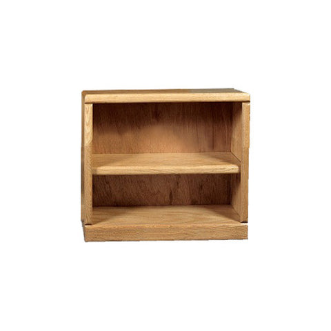 "FD-6120 - Contemporary Oak Bookcase 36"" w x 12"" d x 30"" h - Oak For Less® Furniture"