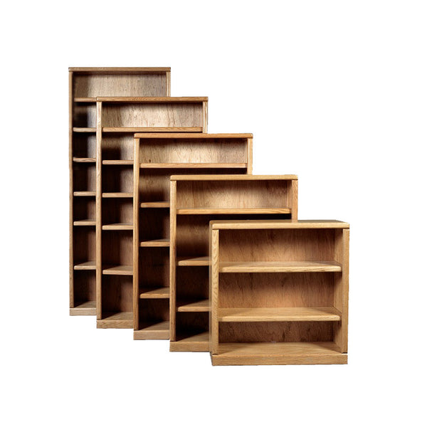 "FD-6125 - Contemporary Oak Bookcase 36"" w x 12"" d x 84"" h - Oak For Less® Furniture"