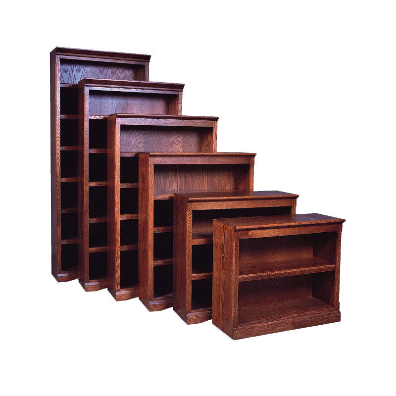 "FD-6125M - Mission Oak Bookcase 36"" w x 13"" d x 84"" h - Oak For Less® Furniture"