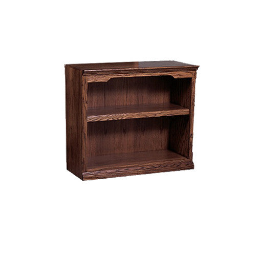"FD-6120T - Traditional Oak Bookcase 36"" w x 13"" d x 30"" h - Oak For Less® Furniture"