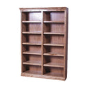 "FD-6136M - Mission Oak Bookcase 48"" w x 13"" d x 96"" h - Oak For Less® Furniture"