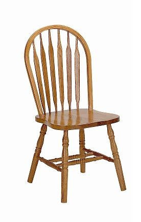 GS-CL101W01E5 - Classic Oak Arrowback Side Chair - Oak For Less® Furniture