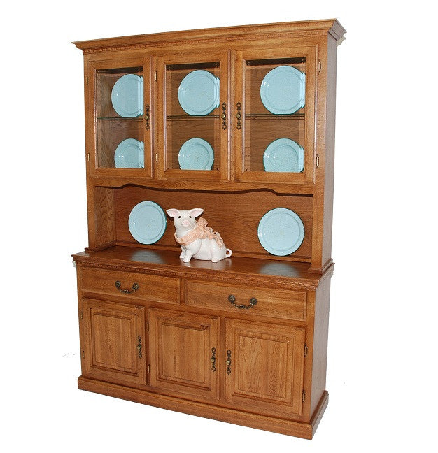 "GS-CL35746H1 and GS-CL35432B1 - 54"" Promo Hutch and Buffet - Oak For Less® Furniture"