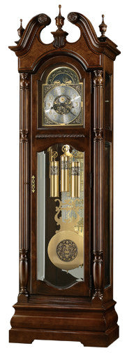 HM-611-142 - Edinburg Floor Clock - Oak For Less® Furniture