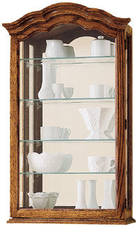 HM-685-102 - Vancouver II Wall Display - Oak For Less® Furniture
