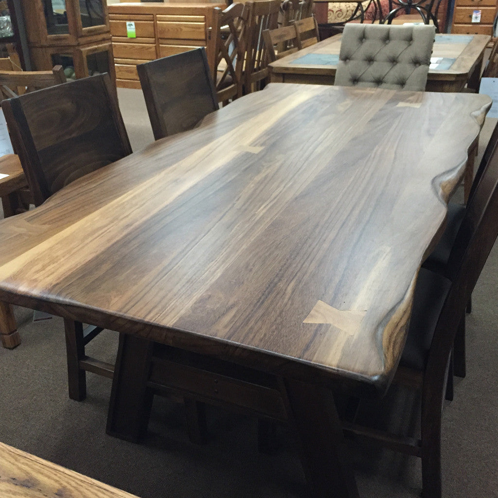 Merveilleux ... IFD 866TABLE 868BASE   79 X 39 Solid Parota Wood Dining Table With U0027 ...