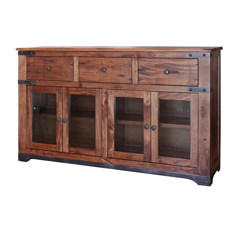 "IFD-866CONS - Parota Collection 70"" Solid Wood Console with 'Live Edge' Top"