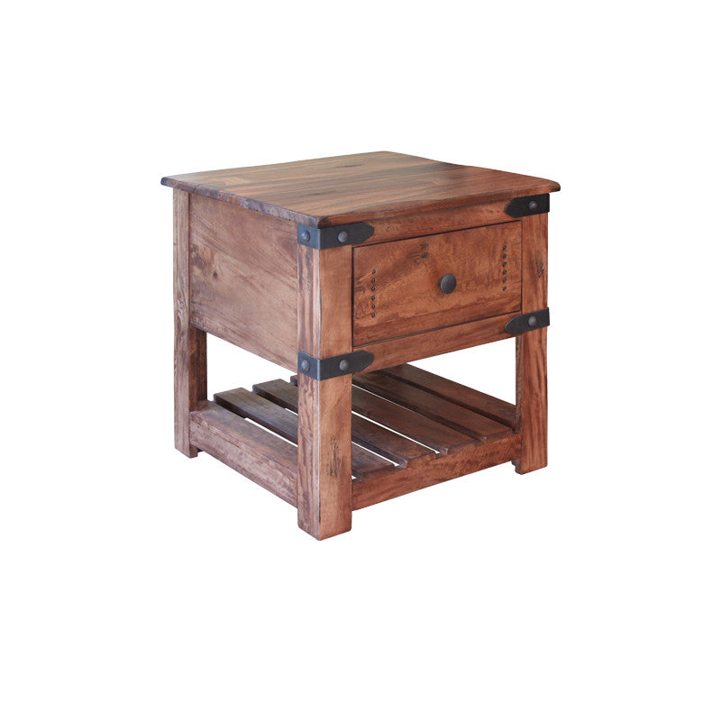 IFD867END Parota II Collection Solid Wood End Table
