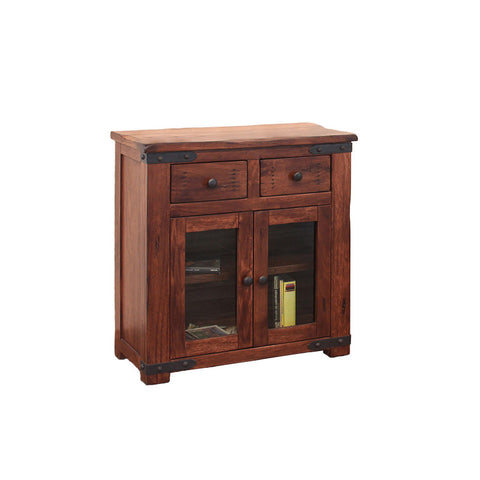 "IFD-867SERV - Parota Collection Solid Wood 35"" Server with 'Live Edge' Top - Oak For Less® Furniture"