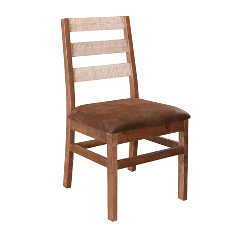 IFD-965CHAIR-W - Antique White Collection Solid Wood Ladder Back Dining Chair - Oak For Less® Furniture