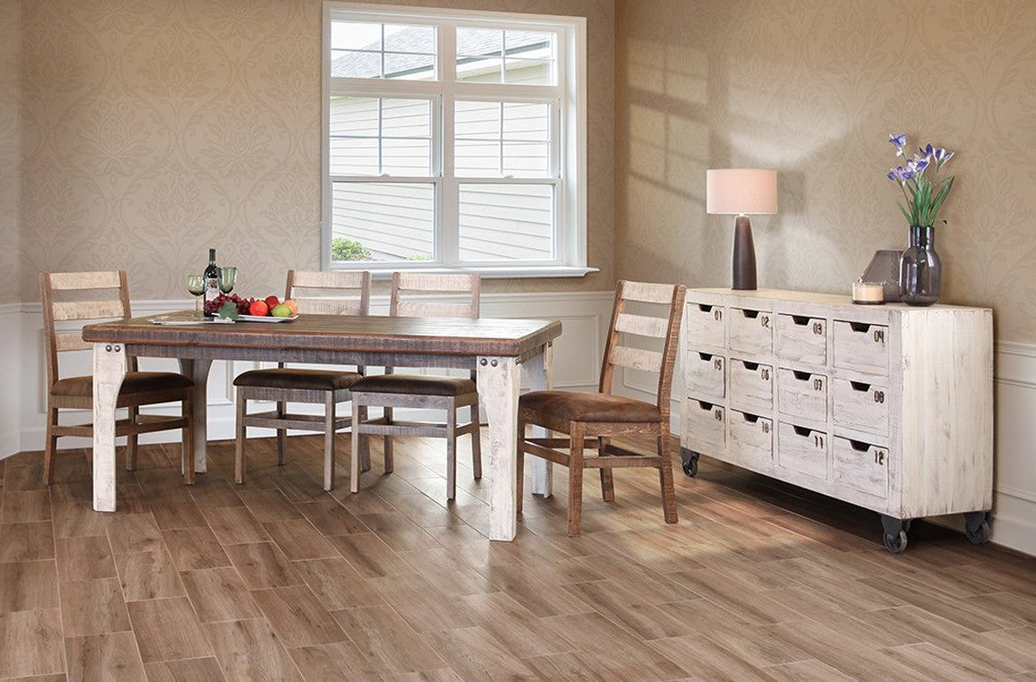 ... IFD 965CONS12 W   Antique White Collection Solid Wood 12 Drawer Console    Oak