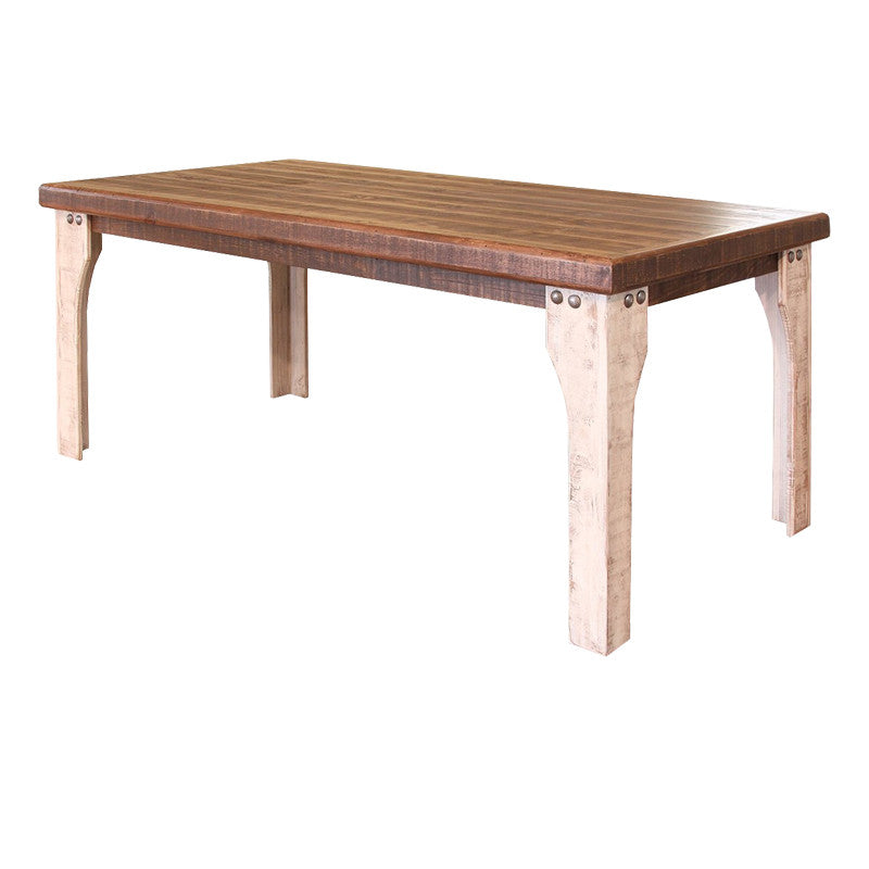 IFD 965TABLE W   71 X 36 Antique White Collection Solid Wood Dining Table