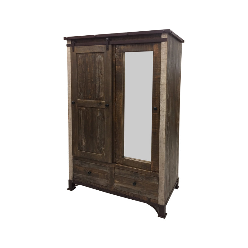 IFD-966ARMOIRE - Antique MC Collection Armoire - Oak For Less® Furniture