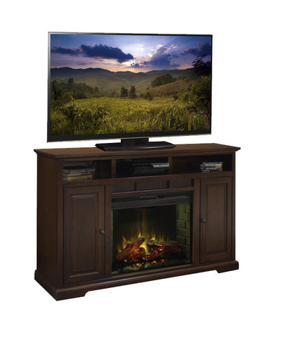 "LG-BW5101 - Brentwood 64"" Fireplace TV Stand - Oak For Less® Furniture"
