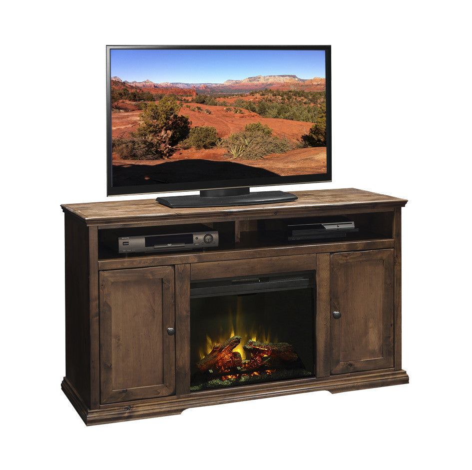 "LG-BZ5304 - Bozeman 59"" Fireplace TV Stand - Oak For Less® Furniture"