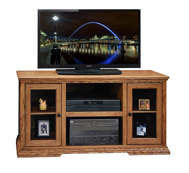 "LG-CP1227 - 54"" Colonial Place TV Stand - Oak For Less® Furniture"