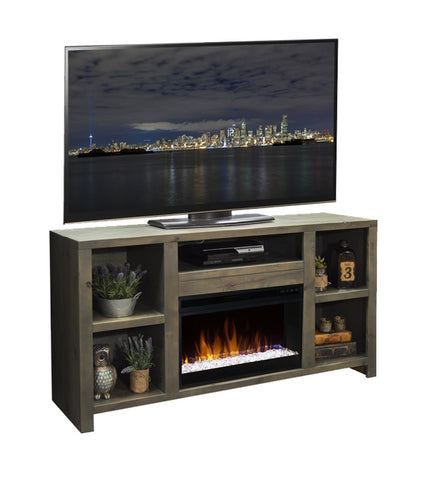 "LG-JC5201 - Joshua Creek 62"" Fireplace TV Stand - Oak For Less® Furniture"