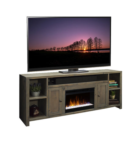 "LG-JC5284 - Joshua Creek 84"" Super Fireplace TV Stand - Oak For Less® Furniture"