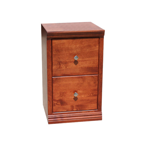 Traditional Alder 2 Drawer File Cabinet