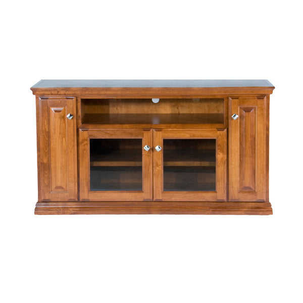 "OD-A-T238 - Traditional Alder 56"" TV Stand - Oak For Less® Furniture"