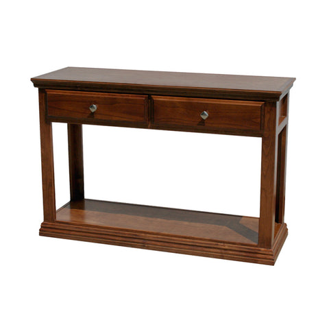 OD-A-T247 - Traditional Alder Sofa Console Table - Oak For Less® Furniture