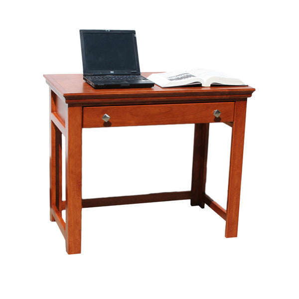 "OD-A-T370 - Traditional Alder 36"" Lap Top Writing Table Desk - Oak For Less® Furniture"
