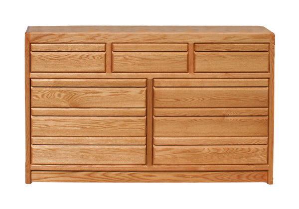 OD-O-C324 - Contemporary Oak 9 Drawer Mule Chest Dresser - Oak For Less® Furniture