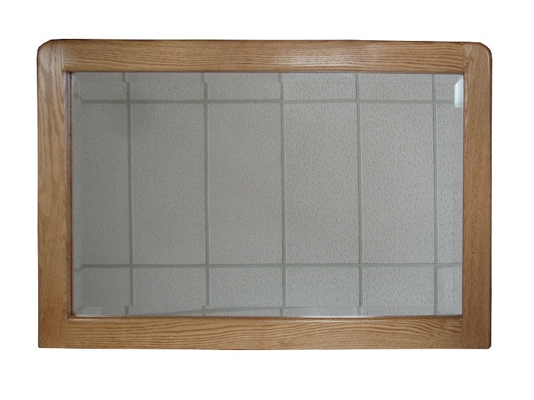 OD-O-C325 Contemporary Oak Mirror (matches the OD-O-C324 9 Drawer Dresser) - Oak For Less® Furniture