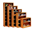 "OD-O-C2460 - Contemporary Oak Bookcase 24"" w x 12"" d x 60"" h - Oak For Less® Furniture"