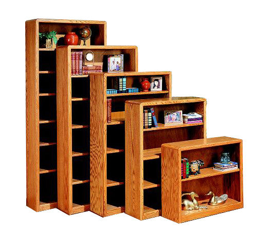"OD Contemporary Oak Bookcases 24"" W, 12"" D in heights 30"" - 84"""
