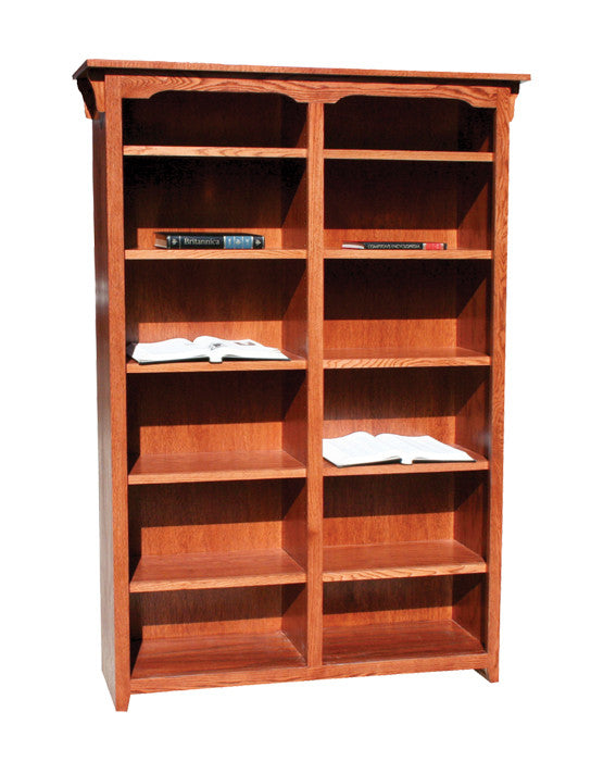 "OD-O-M4872 - Mission Oak Bookcase 48"" w x 13"" d x 72"" h - Oak For Less® Furniture"